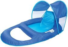 Float Recliner Canopy, Inflatable Stylish Soft Comfy Outdoor Pool Swimming New