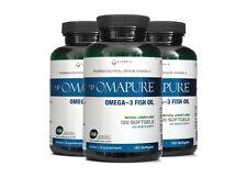 OMAPURE Pharmaceutical Grade Omega-3 Fish Oil (3 Bottles; 120 softgels)