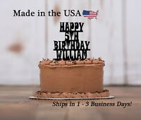 Gothic Happy Birthday, Spooky Cake Topper, Boy's Party, Any Age,Keepsake, LT1354