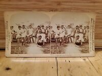 Antique Stereoscope Stereo Photo Cards 1899 Phillipine wounded soldier military