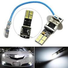 24-SMD-4014 H3 6500K HID Xenon White LED Bulbs for Fog Lights or Driving Lamps