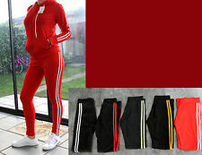 Damen Trainingsanzug 2 Teilig Hose+Jacke Sportjacke Sportanzug Streifen 201 NEU