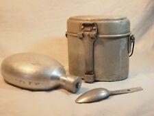 lot gamelle, gourde et cuillère allemandes   provenance Normandie 44 - WWII