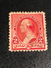 More details for used 2 cent us postage stamp - george washington red