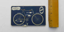 c 1890s Columbia Bicycles Pope Manufacturing Advertising Card Rotating Wheel