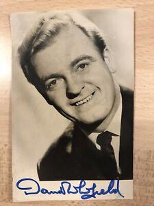 Genuine Hand Signed photo of David Whitfield - 9cm x 14cm