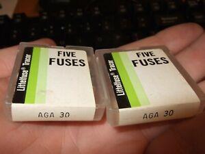 10 new AGA30 AGA-30 (BP/AGA-30, BK/AGA-30) 30A (30 Amp) 32V Fast Blo fuse fuses