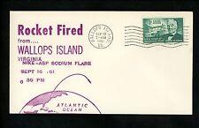 US Postal History Space Rocket Fired Launch Nike-ASP 1961 Wallops Island VA