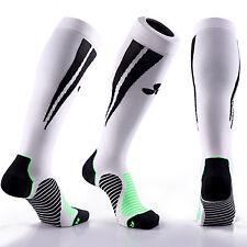 SAMSON Calcetines de compresión Blanco Negro Fútbol Correr Deporte Gimnasio
