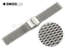 For SEIKO Watch Strap SHARK MESH MILANESE Metal Steel Watch Band Bracelet Clasp