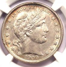 1909-S Barber Half Dollar 50C - NGC AU Details (Scratches) - Certified Coin!