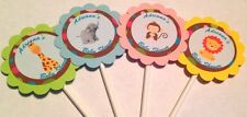 Safari Baby Shower/Sprinkle Customized Cupcake Toppers Picks 12 count