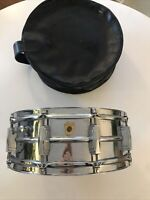 """Vintage 1967 Ludwig Supra-Phonic 14"""" x 5"""" Snare Drum with soft case"""