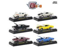 DETROIT MUSCLE, 6 CARS SET RELEASE 41 IN CASES 1/64 DIECAST M2 MACHINES 32600-41