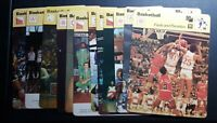 1977-79 SPORTSCASTER NBA COLLEGE USA BASKETBALL 4.75X6.25 LOT OF 13 CARDS