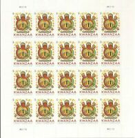 Kwanzaa Sheet of 20 Forever Postage Stamps Scott 4845