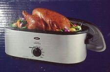 Oster 20-Quart Turkey Roaster Oven 24lb Slow Cooker Stainless Steel self Basting