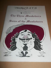 "THEATRE ROYAL BATH "" THE THREE MUSKETEERS "" THEATRE PROGRAMME 1988"