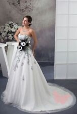 Satin A-line Plus Size Wedding Dresses