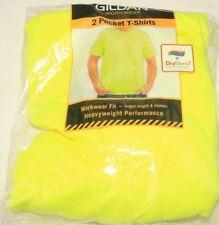 GLIDAN Workwear T-Shirt Size L Yellow Dryblend Heavyweight Performance Pocket