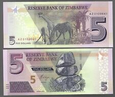 ZIMBABWE 5 DOLLARS (2019) NEW HYBRID NOTE -AZ PREFIX  //// REPLACEMENT NOTE ////