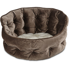 """Harmony Tufted Cat Bed in Brown, 18"""" L x 17"""" W"""