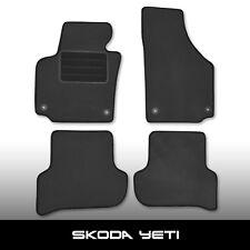 Fußmatten Skoda Yeti 5L (ab 2009) Grau Autoteppiche nadelfilz 4tlg OrigBf