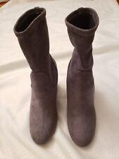 81b3b4cf8b00 NWB Halogen Jacy Stretch Sock Bootie Suede Heels Gray Size 6