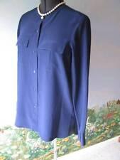 Vince Blue Long Sleeve Blouse Top Silk Shirt Size 10 NWT MSRP $275