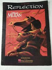 "1998 Sheet Music ~ Piano, Vocal & Guitar ~ Disney  Movie ""MULAN"" ~ ""REFLECTION"""