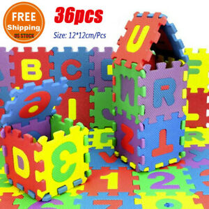 36pcs Alphabet Numbers Floor Play Mat Baby Kids Home Room Jigsaw ABC Foam Puzzle