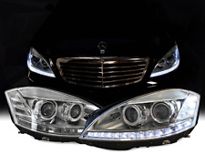 *Facelift LED Headlight For 07-09 W221 S Class Stock Bi-Xenon AFS & Night Vision