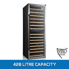 NEW 155 Bottle Wine Fridge Dual Zone Cooler Underbench Refrigerator Cellar Black
