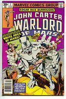 John Carter Warlord Of Mars 2 Marvel 1977 NM- White Apes Dejah Thoris Gil Kane