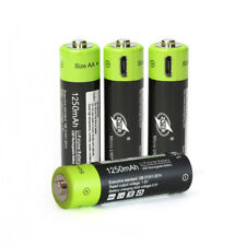 X4 ZNTER 1.5V AAA 400mah Rechargeable Lithium USB Battery w USB Charging Line