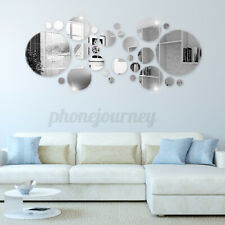 DIY Mirror Circle Decal Wall Sticker Self-Adhesive Art Mural Living Room Decor