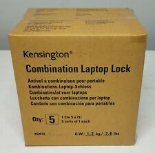 New listing New Sealed Box Lot of 90 total Combo Laptop Locks (5X18 box) Kensington K64673Am