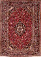 Excellent Vintage Traditional Floral Kashaan Area Rug Hand-made Living Room 8x12