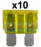 PACK OF 10PK 5A AMP GLASS FUSES FUSE CAR AUTO VAN BOAT MARINE 29 x 6mm