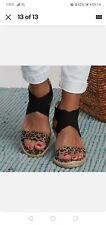 Women leopard Platform Espadrilles Sandals Ladies Ankle Strap Wedges Shoes 5