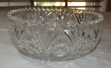 """Crystal Glass Candy Dish Potpourri candy dish Compote clear 8"""" stars~"""