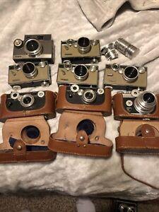 Vintage Camera Group Of 8 Cameras Argus Estate Find Untested