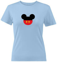 Mickey Mouse Head Ears Juniors Teen Women Tee T-Shirt Gift Shirts Disney S~2X
