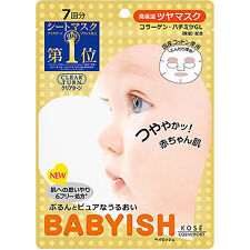 [KOSE COSMEPORT] Japan Clear Turn Babyish Collagen Rich Moisture Face Mask 7pcs