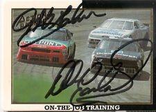 Dale Earnhardt Jeff Gordon CHAMP/CHALLENGER NASCAR AP HOFers #3 #24 signed card