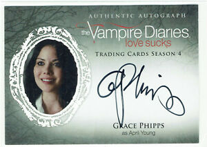 Vampire Diaries Season 4 Autograph Card GP Grace Phipps as April Young