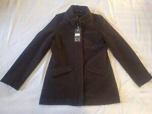 Smartwool Womens Wool Chocolate Heather Size Small Banff Jacket SS125-240 *NEW*