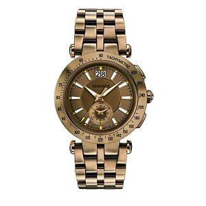 Versace VAH060016 Men's V-RACE Bronze-Tone Quartz Watch