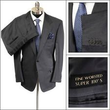 $2495 NWT ERMENEGILDO ZEGNA Anthracite Super 100's Wool Suit 54 44 R Drop 4