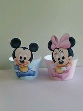 24 baby mickey and baby minnie mouse cupcake wrappers